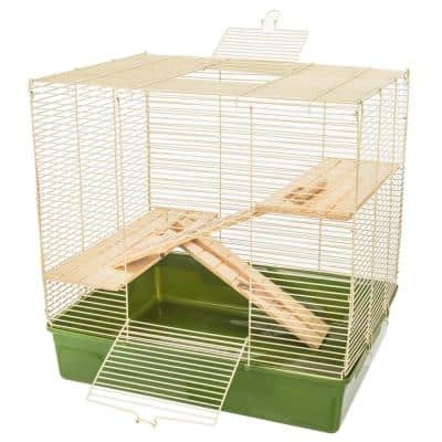 Natural's Rat Cage with Wooden Shelves and Ramps - 20.5 in. x 16.5 in. x 15.5 in.