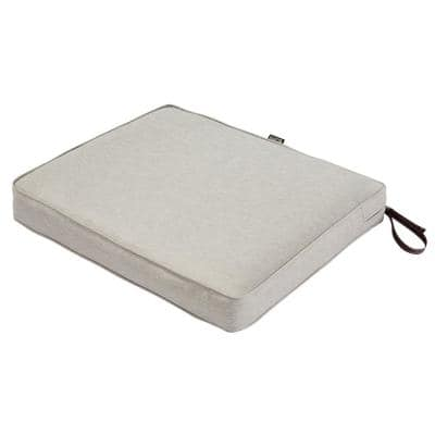 Montlake Heather Grey 21 in. W x 19 in. D x 3 in. Thick Rectangular Outdoor Seat Cushion