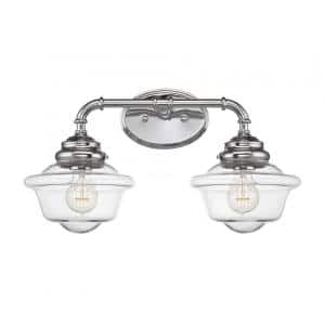 McKay 2-Light Chrome Bath Vanity Light