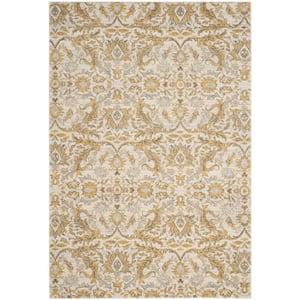 Evoke Ivory/Gold 4 ft. x 6 ft. Floral Area Rug