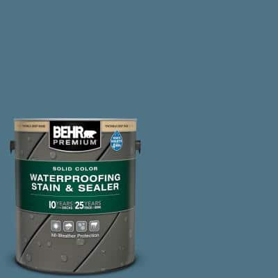 1 gal. #SC-107 Wedgewood Solid Color Waterproofing Exterior Wood Stain and Sealer