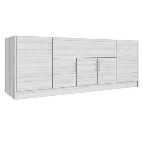 Weatherstrong Miami Whitewash 12 Piece 91 25 In X 34 5 In X 28 In Outdoor Kitchen Cabinet Set Wse90wm Mww The Home Depot