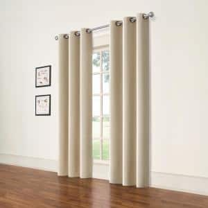 Natural Grommet Blackout Curtain - 37 in. W x 84 in. L