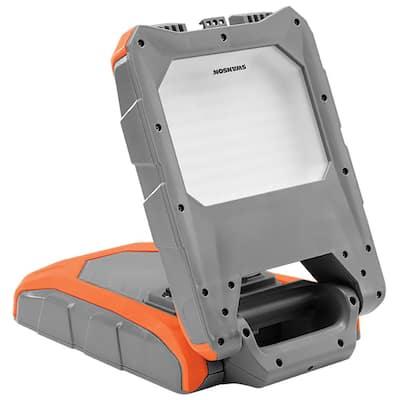 3000 Lumens, 40-Watt Foldable LED USB Socket and UL Plug Socket Rechargeable Work Light