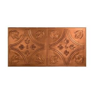 Traditional #5 2 ft. x 4 ft. Glue Up Vinyl Ceiling Tile in Oil Rubbed Bronze (40 sq. ft.)