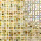 Breeze Pineapple 12-3/4 in. x 12-3/4 in. x 6 mm Glass Mosaic Tile