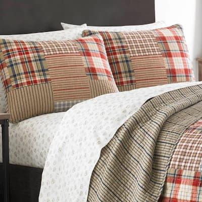 Hawthorne Brown Plaid Cotton Blend Quilt Set