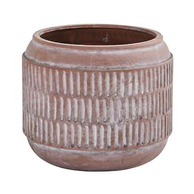 8in. Boho Chic Ceramic Embossed Planter
