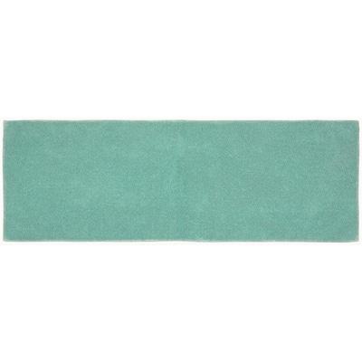 Queen Sea Foam 22 in. x 60 in. Solid Cotton Bath Mat