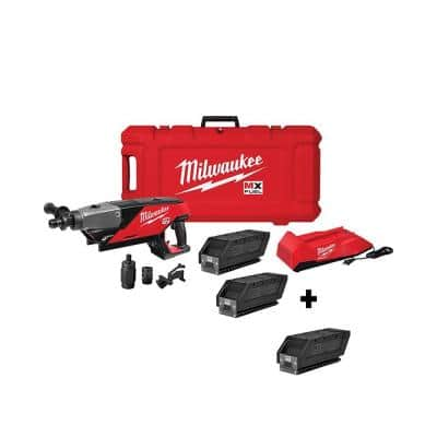 MX FUEL Lithium-Ion Cordless Handheld Core Drill Kit with (3) Lithium-Ion REDLITHIUM CP203 Batteries