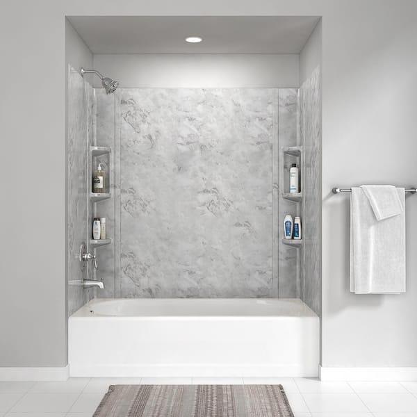5 Piece Glue Up Alcove Wall Bath Set, Bathroom Tub Surrounds