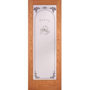 24 in. x 80 in. Pantry Woodgrain 1 Lite Unfinished Oak Interior Door Slab