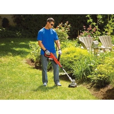 12 in. 20V MAX Lithium-Ion Cordless 2-in-1 String Grass Trimmer/Lawn Edger with (1) 2.0Ah Battery and Charger Included