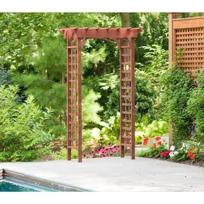 2 ft. 2 in. x 4 ft. 1 in. x 6 ft. 9 in. Cypress Garden Arbor