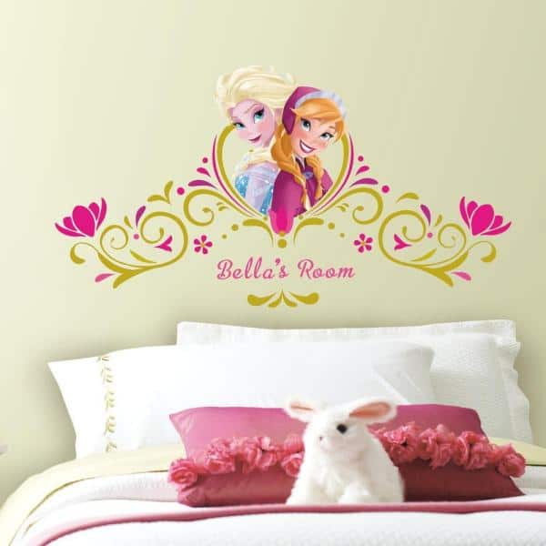 Roommates 5 In X 19 In Frozen Springtime Custom Headboard 146 Piece Peel And Stick Giant Wall Decal Rmk2748gm The Home Depot