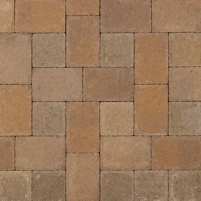Plaza Square 5.5 in. L x 5.5 in. W x 2.25 in. H Earth Blend Concrete Paver (480-Pieces/101.18 sq. ft./Pallet)