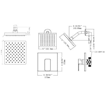 Karsen Single Handle 1-Spray Tub and Shower Faucet Trim Kit in Satin Nickel (Valve Included)