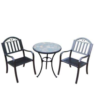 Stone Art Rochester Coffee 3-Piece Stone Patio Bistro Set