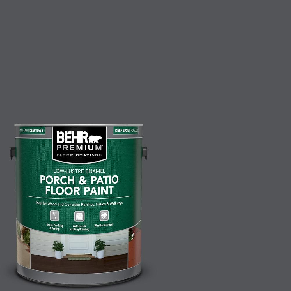 Behr Premium 1 Gal N510 6 Orion Gray Low Lustre Enamel Interior Exterior Porch And Patio Floor Paint 630001 The Home Depot
