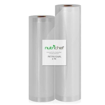 White Vacuum Sealer Bags - Universal Air Vac Sealing Bags (2-Rolls, 100 ft. Total Length)