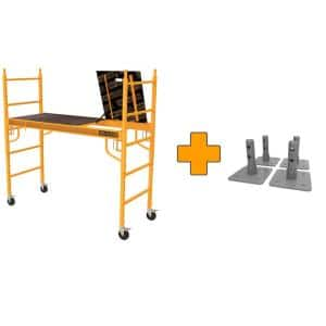 Safeclimb 6 ft. x 6 ft. x 2-1/2 ft. Baker Style Scaffold 1100 lbs. Capacity with Base Plates