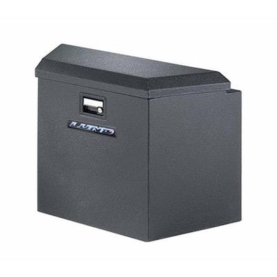 34 in Gloss Black Aluminum Trailer Tongue Truck Tool Box