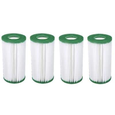 0 sq. ft. Cartridge Type III A/C 1000 GPH and 1500 GPH Replacement Filter Pool (4-Pack)