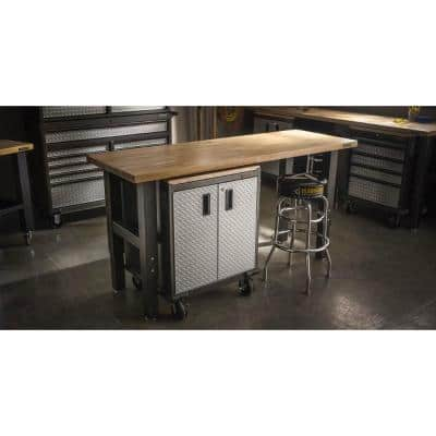 6 ft. Adjustable Height Birch Top Workbench