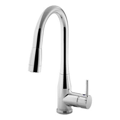 Sereno Single-Handle Pull-Down Sprayer Kitchen Faucet in Polished Chrome
