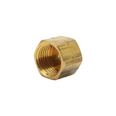 1/4 in. OD Compression Brass Cap Fitting