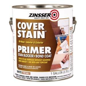 Cover Stain 1 gal. White Oil-Based Interior/Exterior Primer and Sealer (4-Pack)