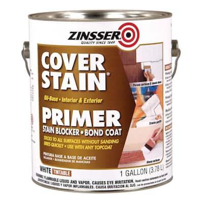 Cover Stain 1 gal. White Oil-Based Interior/Exterior Primer and Sealer