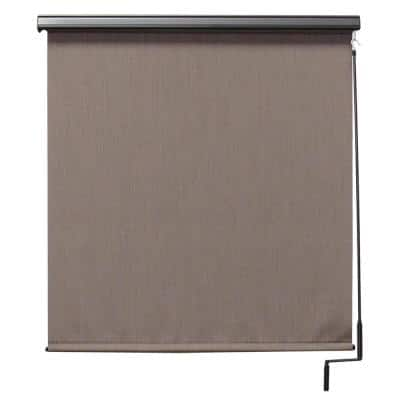 Sea Cliff Cordless UV Protection PVC Outdoor Roller Shade Cordless Pole Operated With Valance 120 in. W x 96 in. L