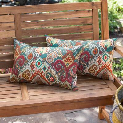Asbury Park Outdoor Lumbar Throw Pillow (2-Pack)