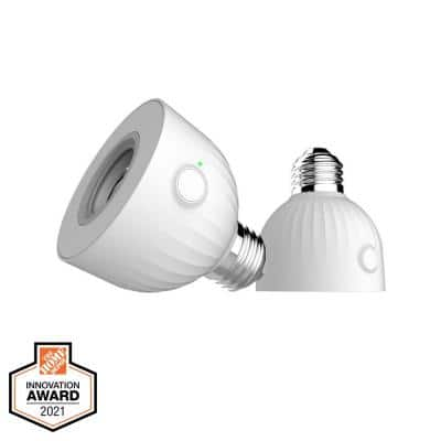 Outdoor Smart Hubspace Wi-Fi and Bluetooth Enabled Screw-Based Lighting Socket Works with Amazon and Google