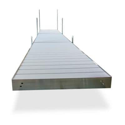 24 ft. L Straight Aluminum Frame with Aluminum Decking Platinum Series Complete Dock Package