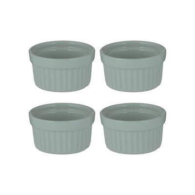 Classic 4-Piece Round Stoneware Gratin Dish Set