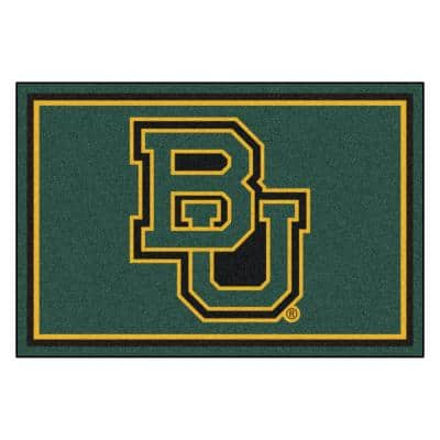 NCAA - Baylor University Grren 8 ft. x 5 ft. Indoor Area Rug