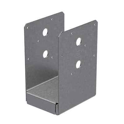 ABU ZMAX Galvanized Adjustable Standoff Post Base for 4x6 Nominal Lumber
