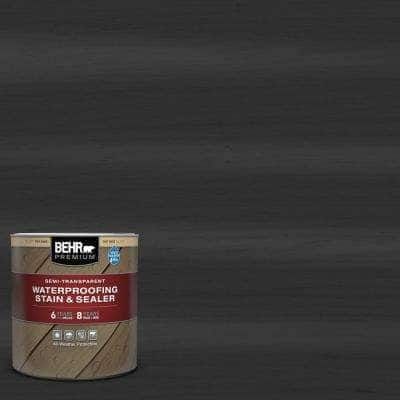 1 qt. #ST-102 Slate Semi-Transparent Waterproofing Exterior Wood Stain and Sealer