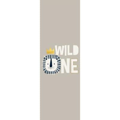 Decorative Grey Wild One Laminated Kids Mats 24 in x 72 in