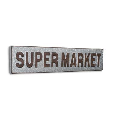 Horizontal Galvanized Supermarket Sign