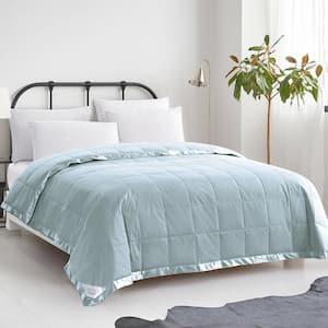 Summer Warmth Blue Down Cotton King Blanket