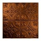 Traditional #2 2 ft. x 2 ft. Oil Rubbed Bronze Lay-In Vinyl Ceiling Tile ( 20 sq.ft. )