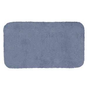 Legacy Wedgewood Blue 20 in. x 34 in. Nylon Machine Washable Bath Mat