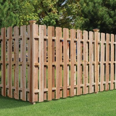 4 in. x 4 in. x 8 ft. Western Red Cedar Fence Post (2-Pack)
