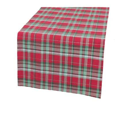 Holiday Tartan 90 in. x 15 in. Christmas Table Runner
