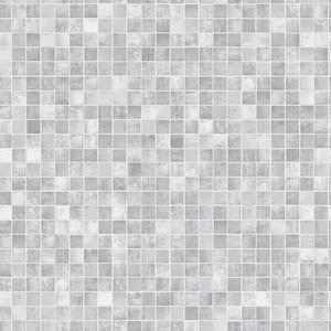 Mosaic Tiles Grey Vinyl Peelable Roll (Covers 56 sq. ft.)