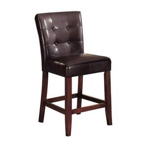 Amelia 2 Pcs Espresso Polyurethane Counter Height Chair