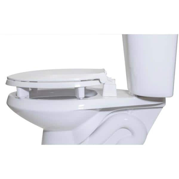 Centoco Centoco Ada Compliant 3 In Raised Elongated Closed Front With Cover Toilet Seat In White 3l800sts 001 The Home Depot